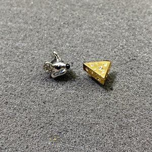 Kate Spade Mouse and Cheese Asymmetrical Earrings